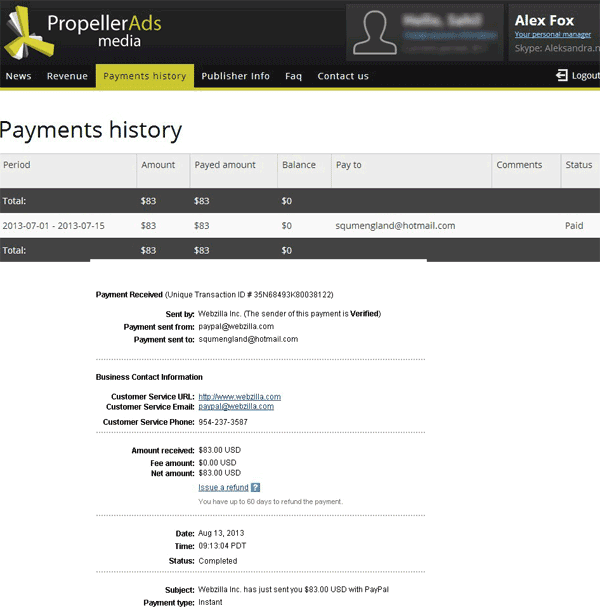 propellerads payment proof.
