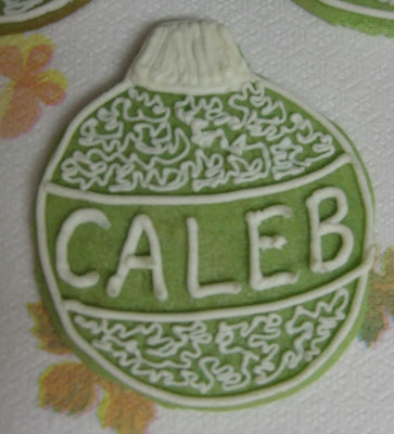 Christmas Ornament Cookies - Close-up Caleb's Ornament Cookie