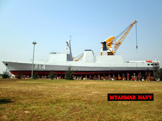 UMS (Union of Myanmar Ship) Kyansitthar (or Kyan-Sit-Thar ), with pennant number F12, was commissioned on 31 March at Thanlyin naval station near Yangon, just two days after the launch of the third frigate UMS Sin Phyu Shin (F14)