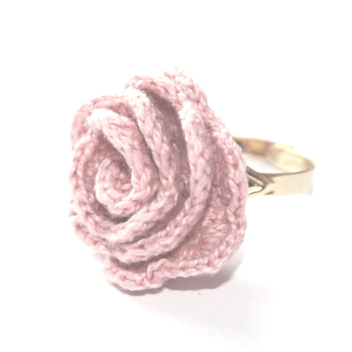 Crocheting Rings : Crochet rose ring available to buy at Bluefinch Boutique