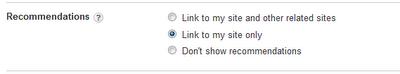 Configurando las recomendaciones