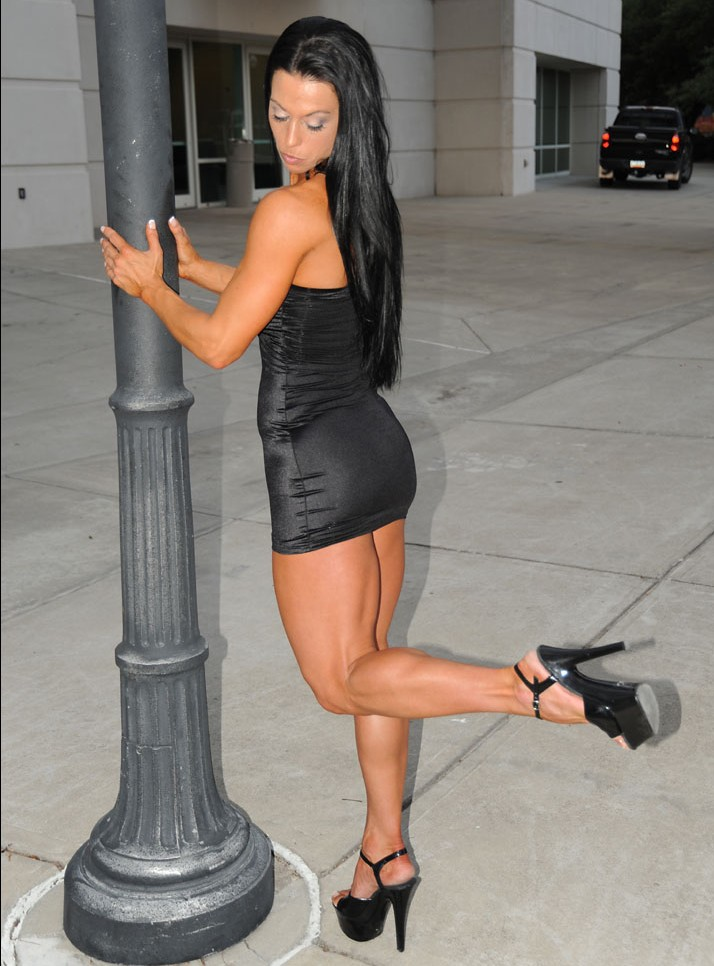 Tiffany Nance gorgeous muscular calves and high heels