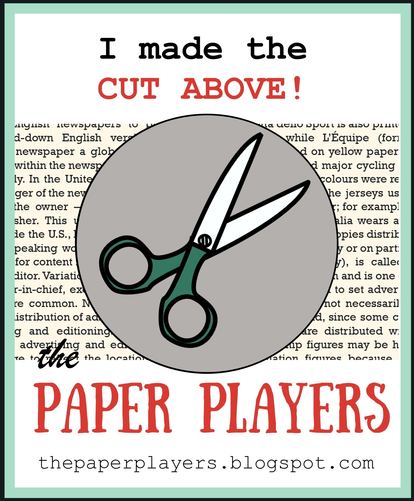 Paper Players Badge 2/2018
