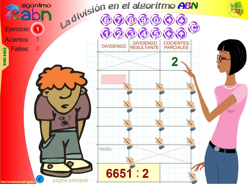 Practica la división ABN