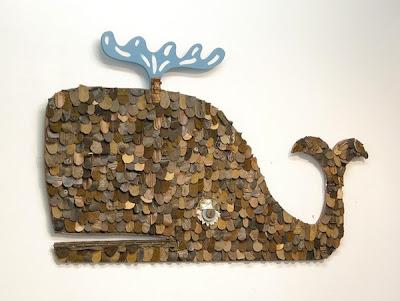 baleia de couro reciclado