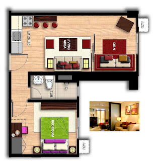 Avida Towers San Lazaro One Bedroom Unit Plan