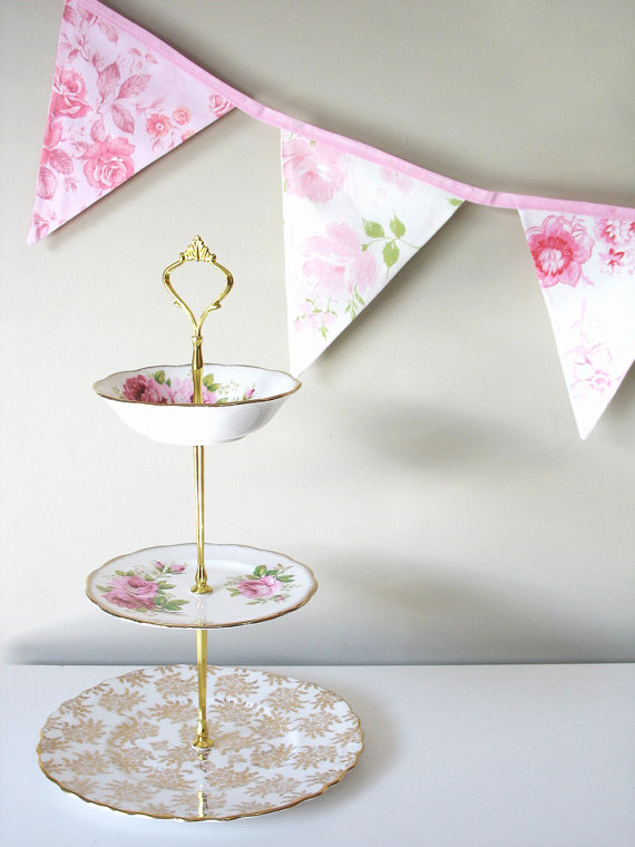 Vintage Style Fabric Flag Bunting