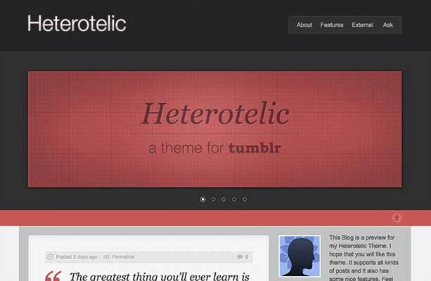 Heterotelic Tumblr Theme