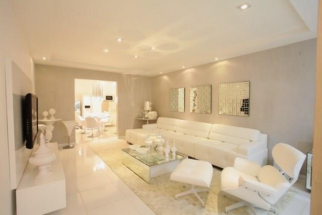Sala De Estar Branca E Rosa ~ Salas brancas e off whites  veja dicas e ambientes lindos decorados