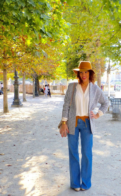 blog mode moutarde chapeau jean flare