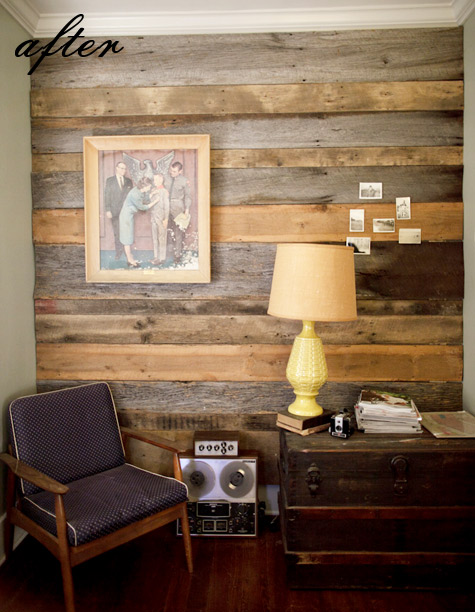 Blog By Cassandra Ericson Reclaimed Pallet Wood Accent Walls