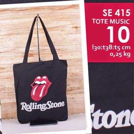 jual online tote bag kanvas murah tema music logo grup band rolling stones