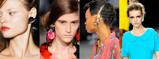runway statement earrings
