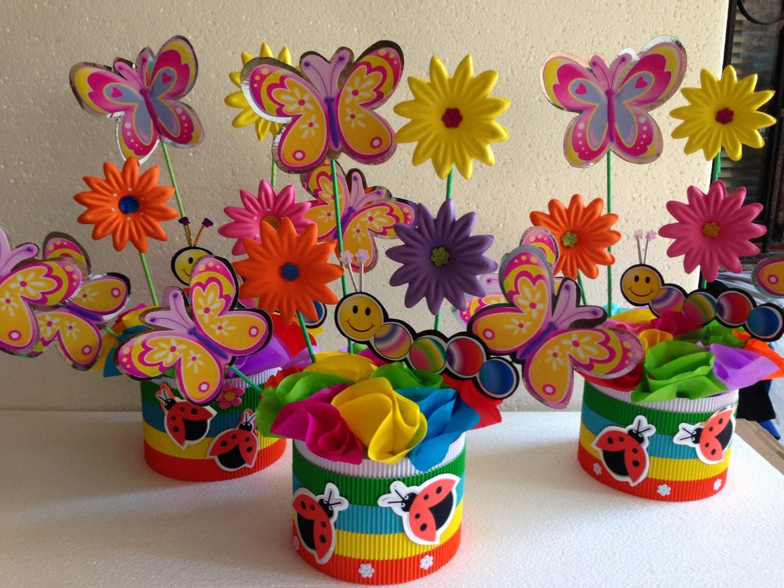 Decoraciones infantiles mariposas y flores - Decoracion cumpleanos infantiles manualidades ...