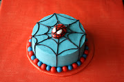 . of red and blue in my mind, the cake obviously had to match the theme.