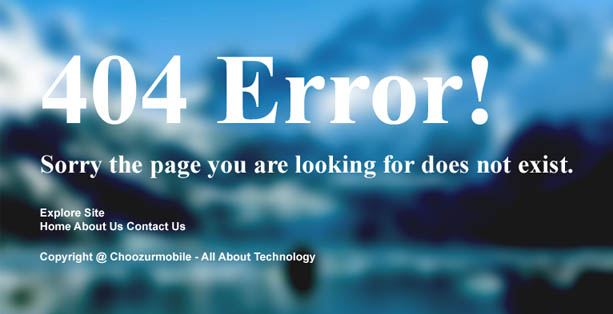 Customized 404 Error Page