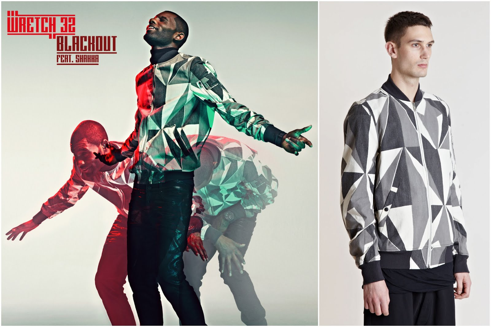 00O00 Menswear Blog: Wretch 32 in DRKSHDW Rick Owens camouflage bomber jacket - 'Blackout' ft Shakka