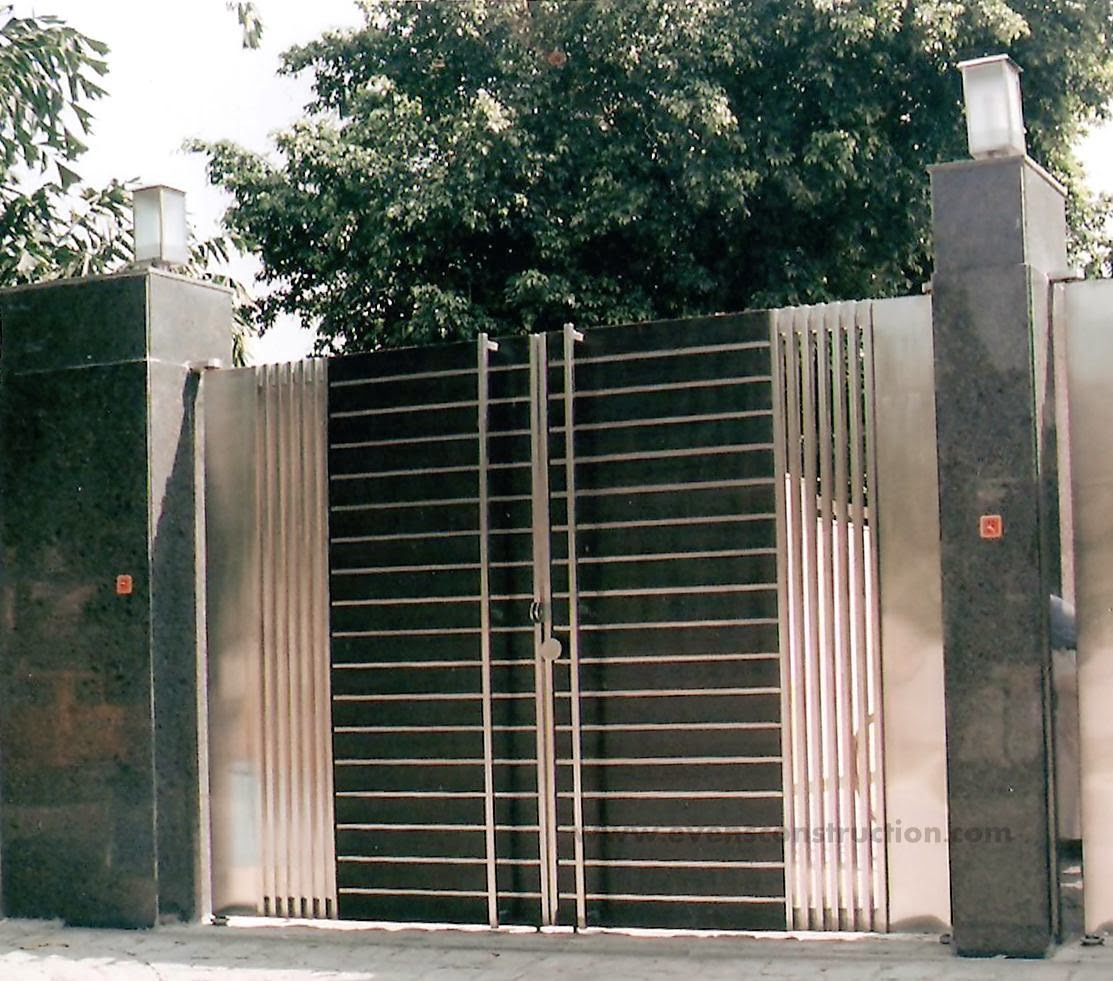 Evens construction pvt ltd compound walls and gates house further house main gate door designs