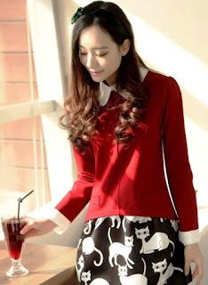 Model Dress Anak Remaja Lengan Panjang ala Korea