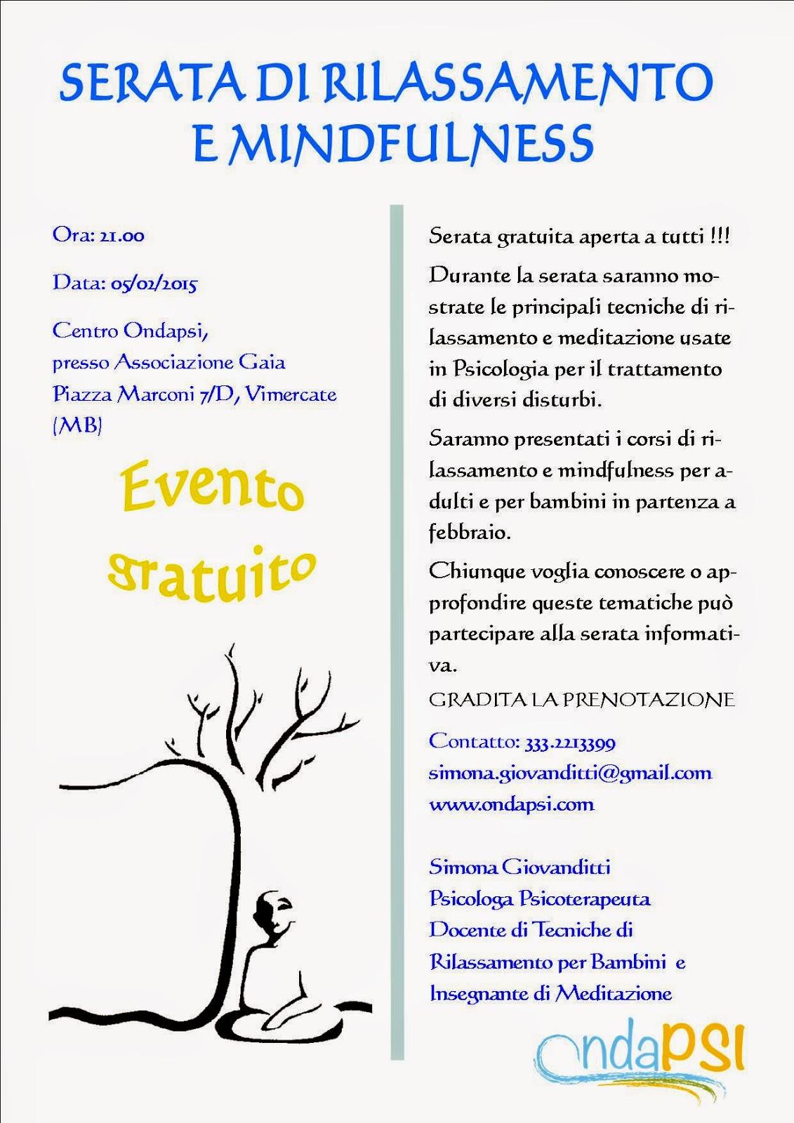 evento gratuito, serata, psicoterapia, ansia
