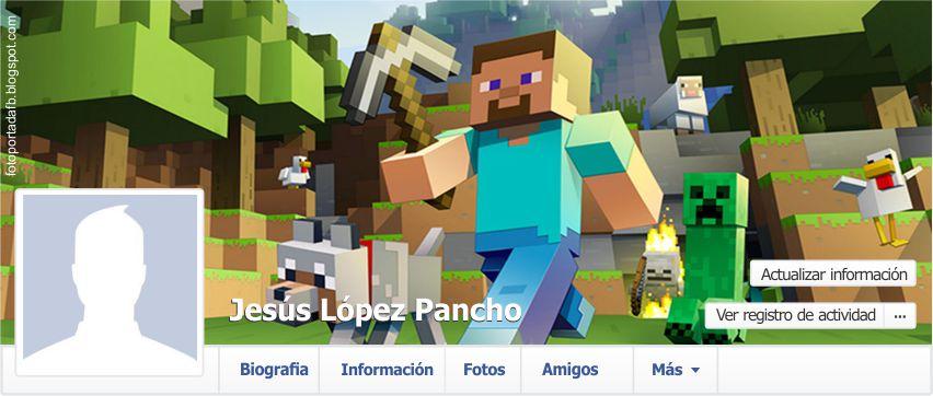 Foto portada para Facebook con el tema de minecraft