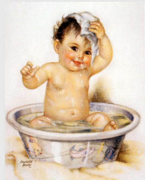 The Best Hearts Are Crunchy: Bath Time Baby