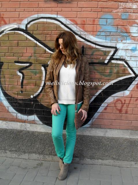 nane yeşili pantolonlu kombin
