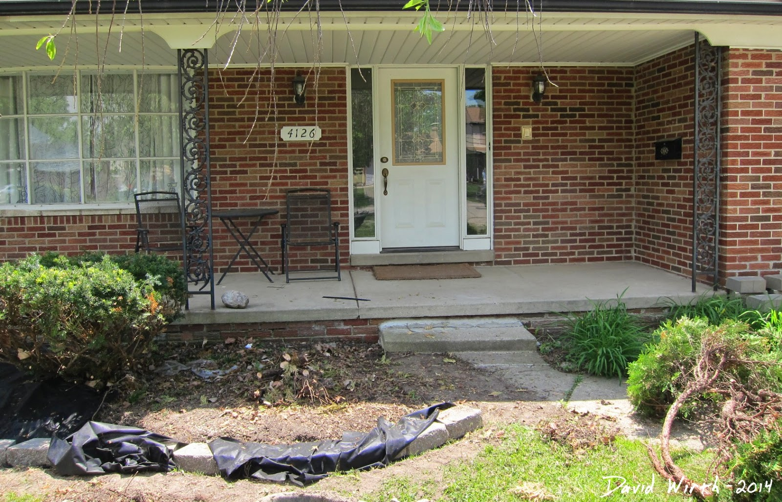 how to fix the front yard, easy flower, bushes, garden