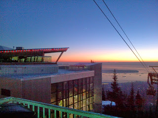 The Trail Effect: Sunset from Grouse Mountain