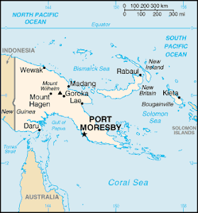 Papua New Guinea - Port Moresby Mission Map