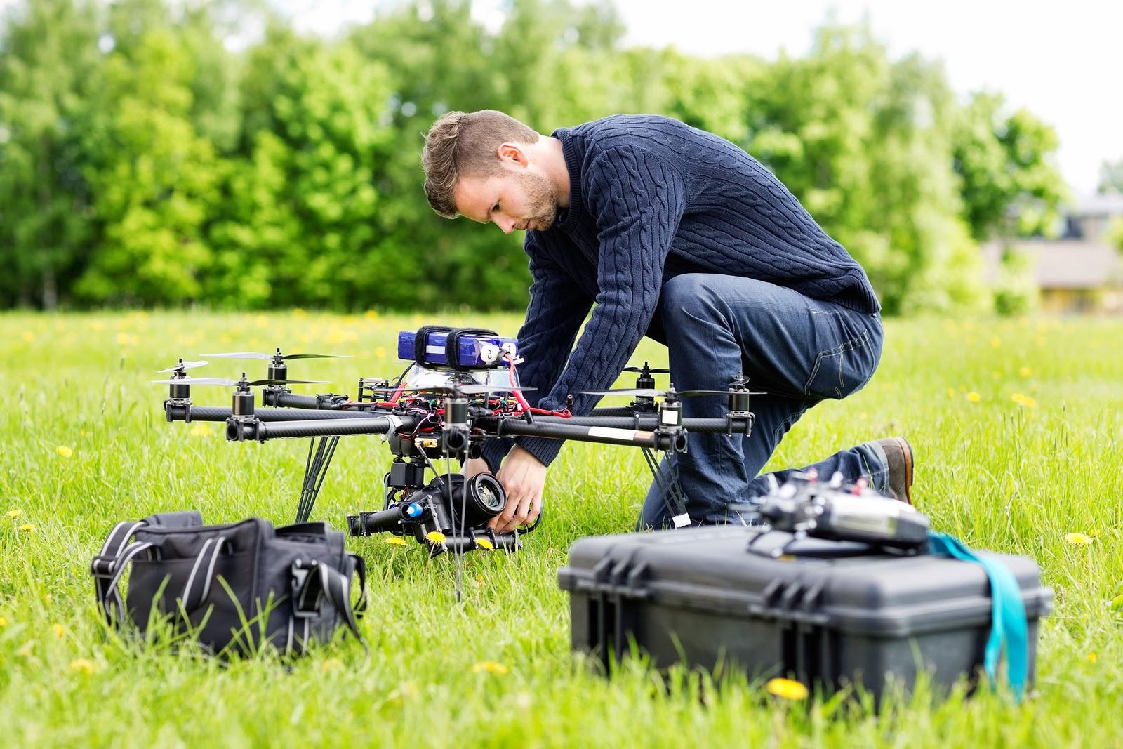 pilotaggio di un drone