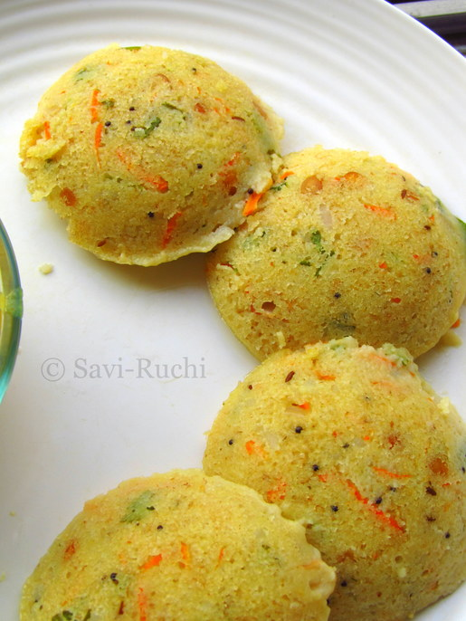 Rawa Idli Recipe (Without Yogurt or curd) | Vegan Rava Idli Recipe : South Indian Recipes