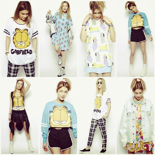 lazy oaf garfield collection spring summer cats