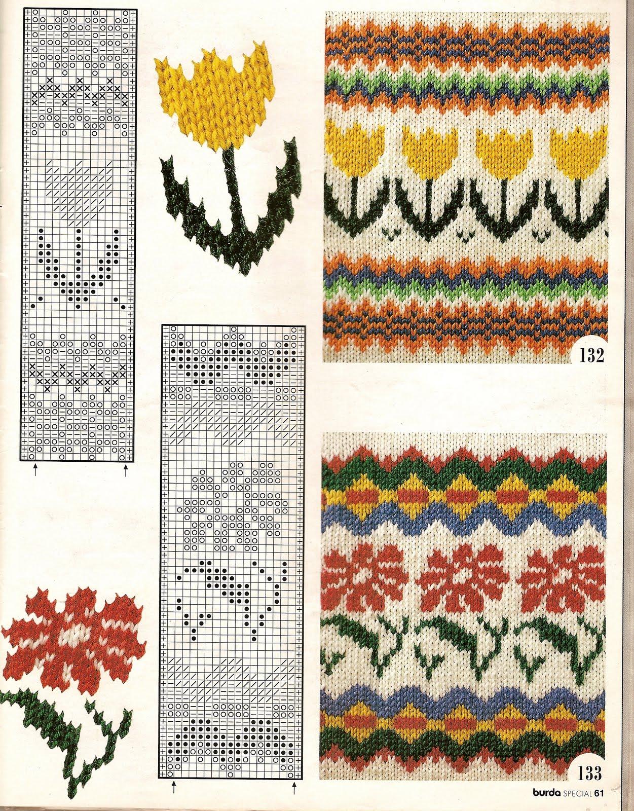 Жакардовые рисунки для вязания