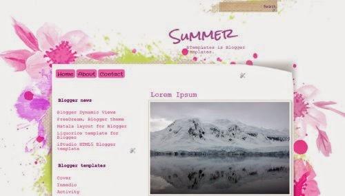 Summer - Free Blogger Template