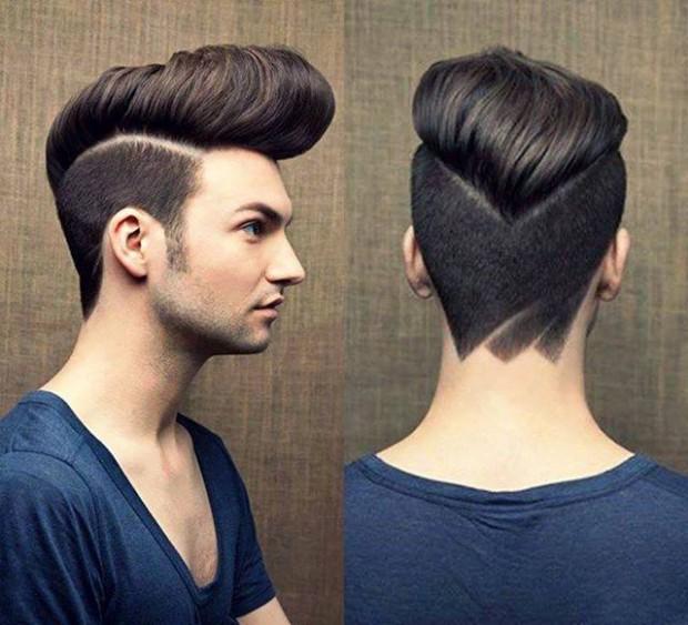 Bald Fade Medium Hair Pomp