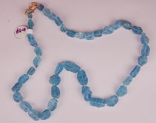 Light blue rough random shaped beads