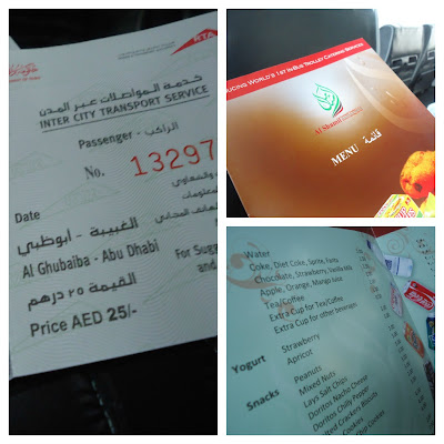 Fare going to yas Island Via Public Transport