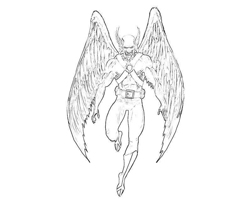hawkman coloring pages - photo#1