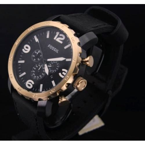 Fossil-nate-leather-watch-black-jr1369
