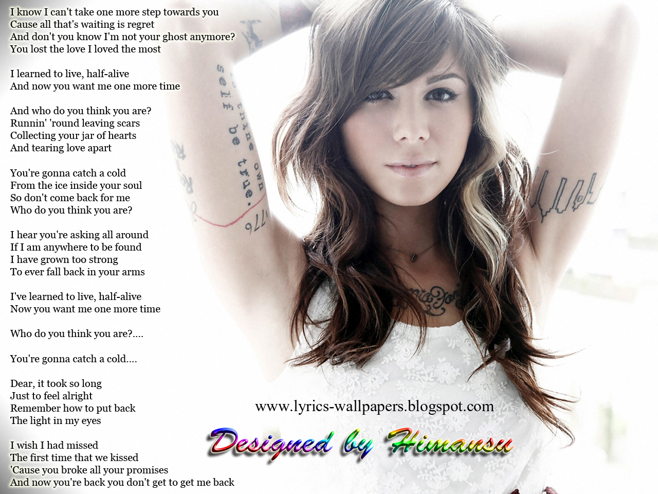 Lyrics Wallpapers: Christina Perri - Jar of Hearts