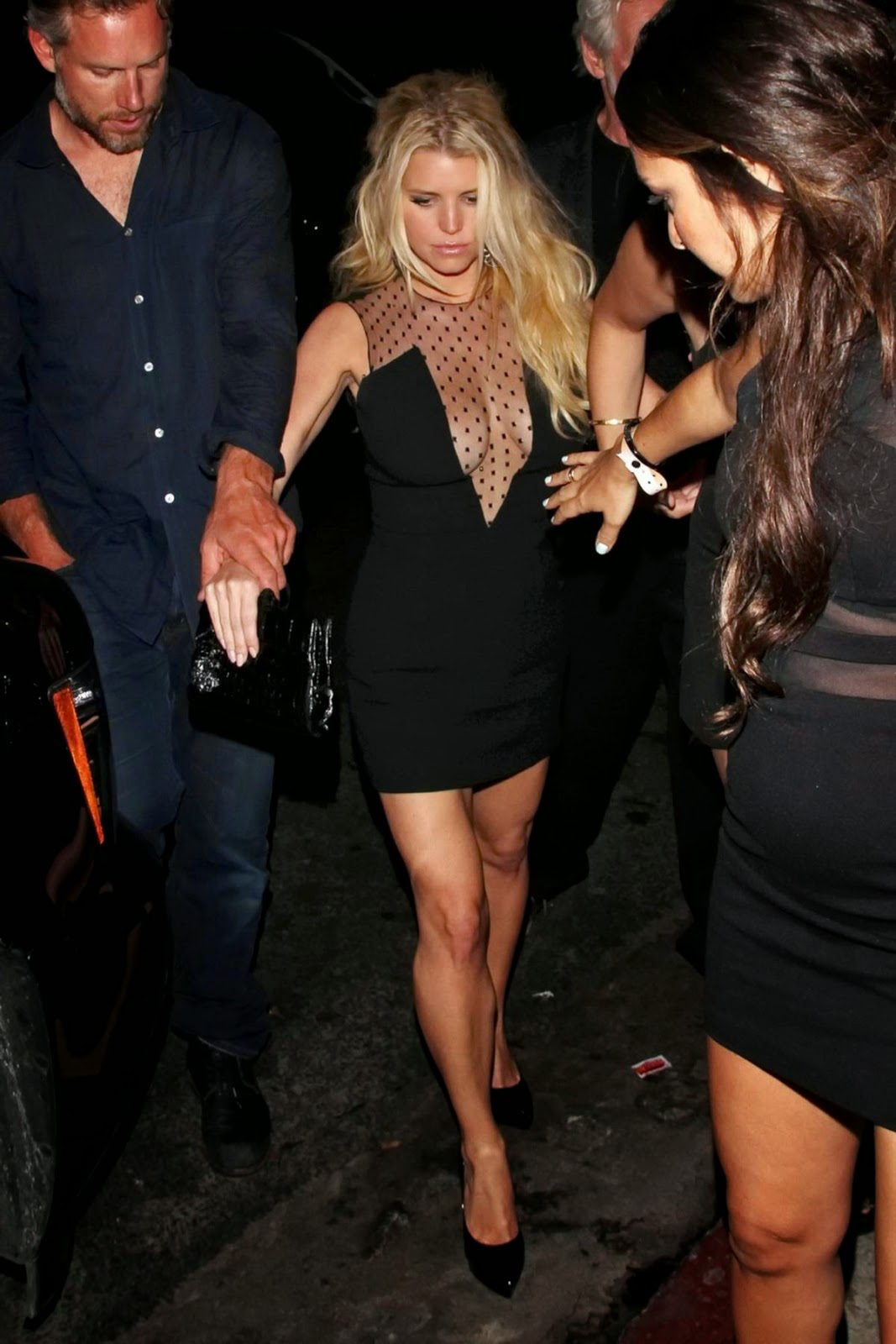Jessica Simpson - Hot Deep Cleavage Candids in Hollywood