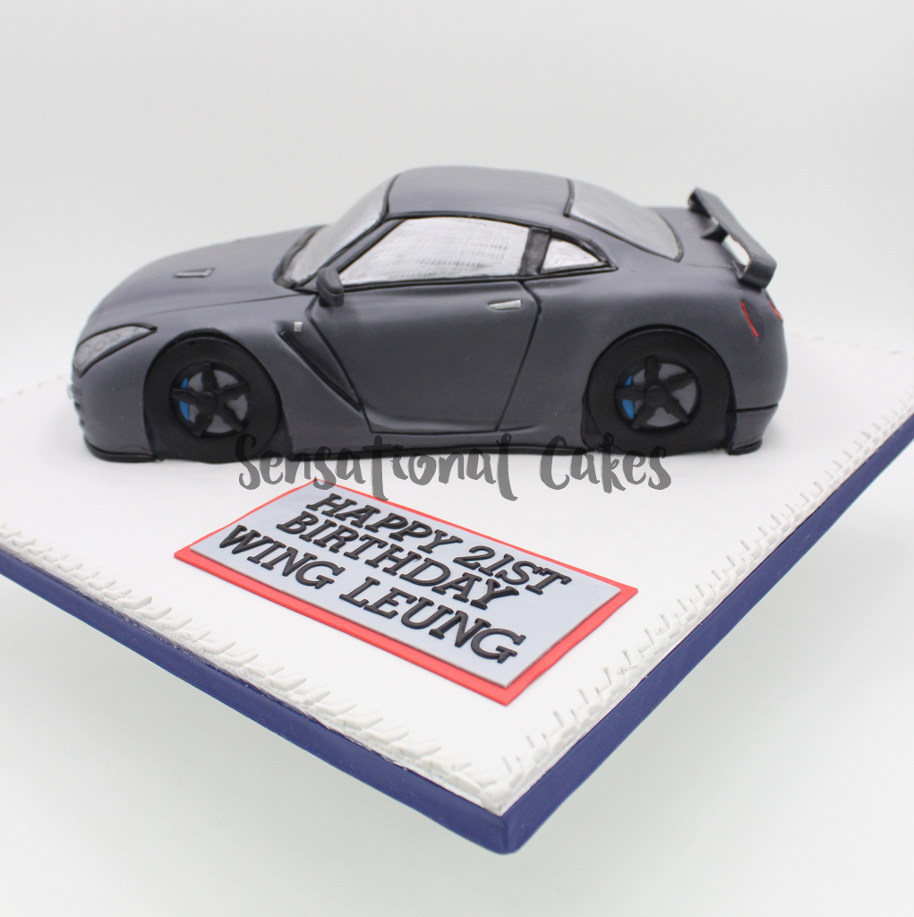The Sensational Cakes: Luxury Car GT-R Inspired 3D