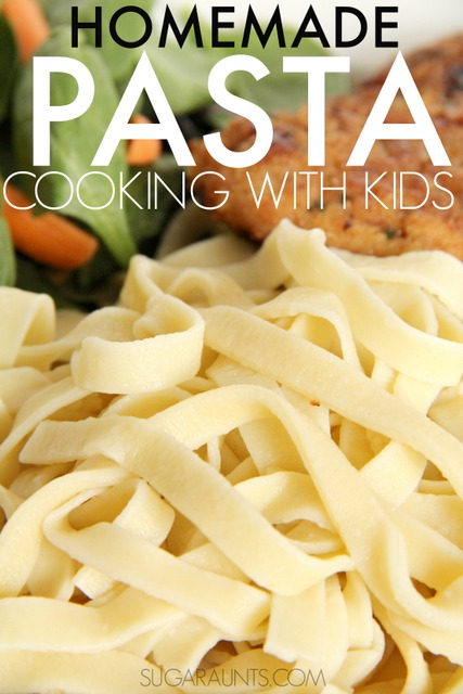 How to make homemade pasta. This cooking with kids recipe is perfect for making noodles of all kinds!