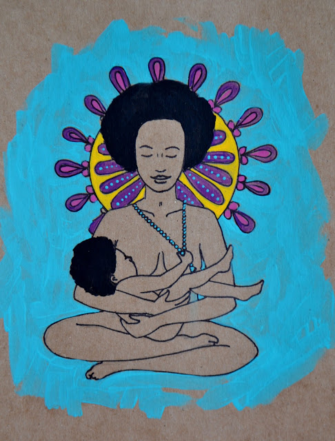 breastfeeding art spiritysol Catie Atkinson black mamas breastfeed