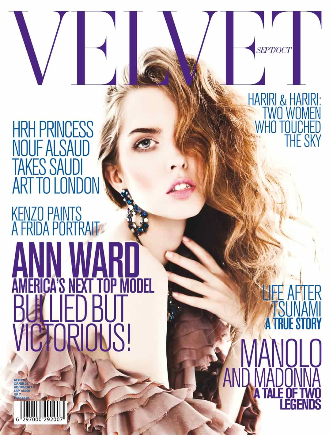 Ann Ward's Latest Work For Velvet Magazine Sept / October 2011