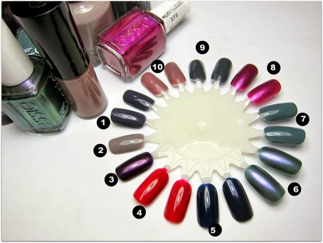 Best Autumn/Winter Nail Colours Swatches