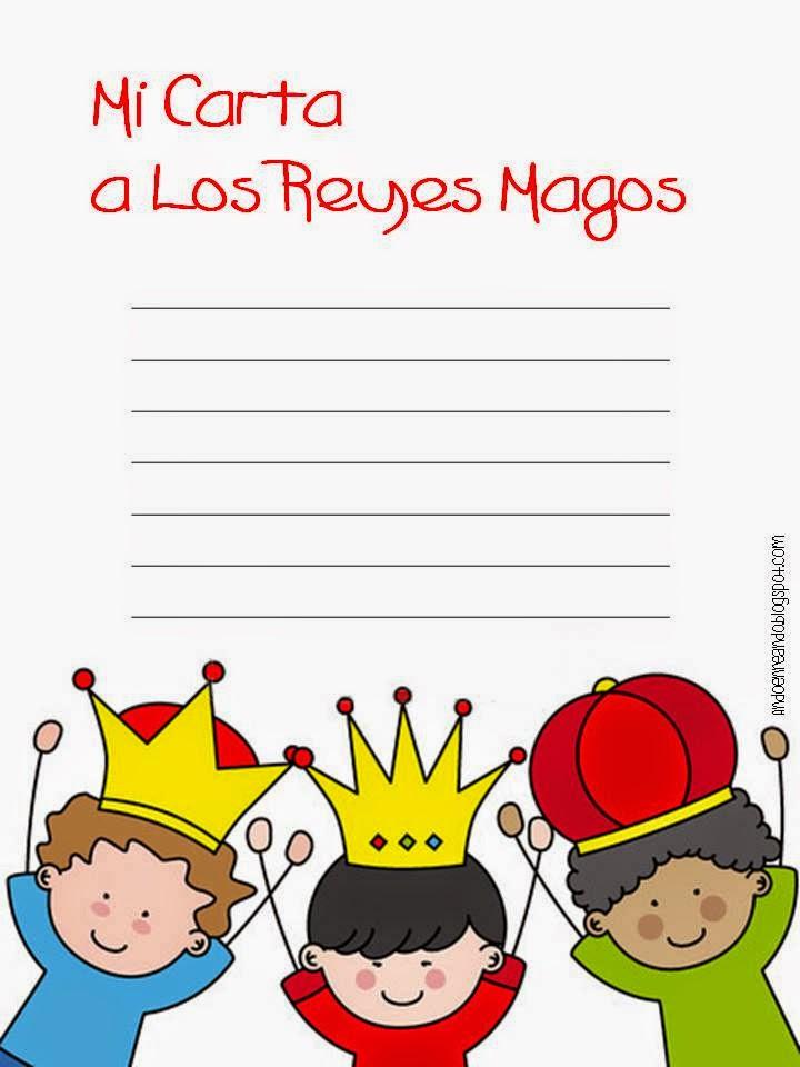 imprimible gratis navidad carta reyes