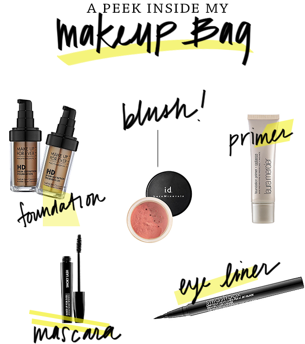 peek inside makeup bag staples