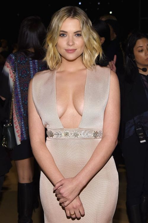 Stunning Ashley Benson at Reem Acra fashion show in NY